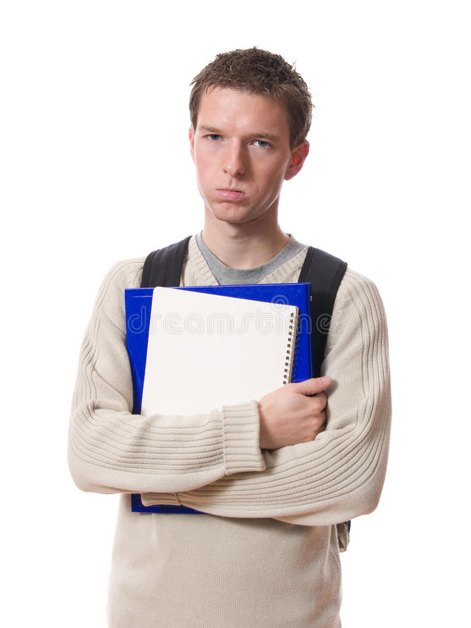 Estudante furado imagem de stock royalty free