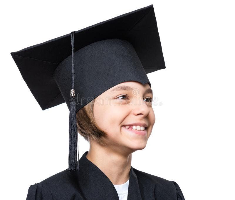 Estudante graduado da menina imagens de stock