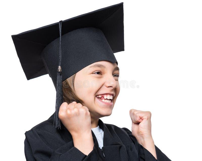 Estudante graduado da menina fotografia de stock