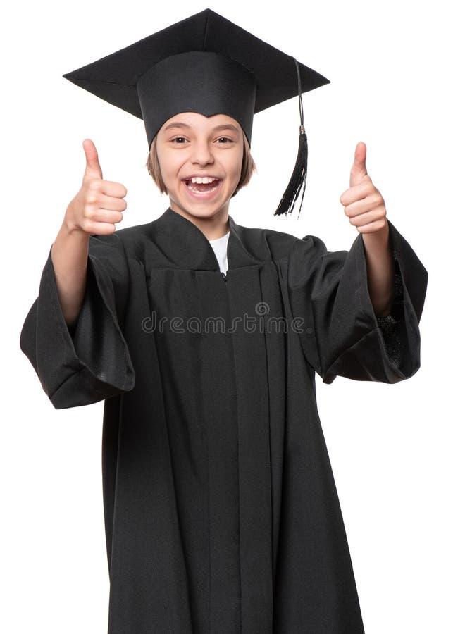Estudante graduado da menina fotografia de stock royalty free