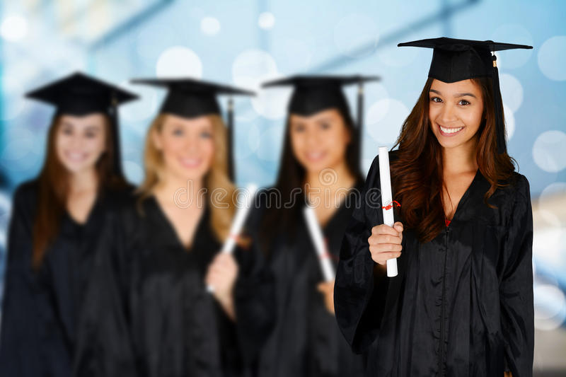 Estudante Graduating School fotografia de stock royalty free