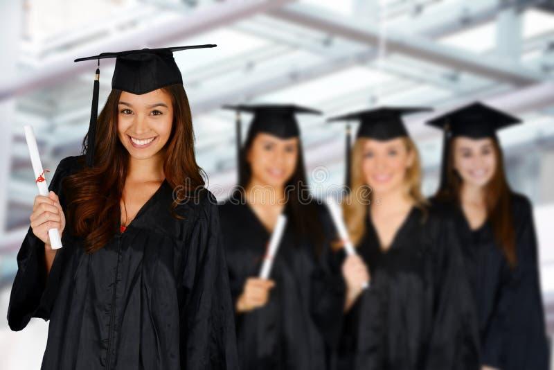 Estudante Graduating School imagens de stock