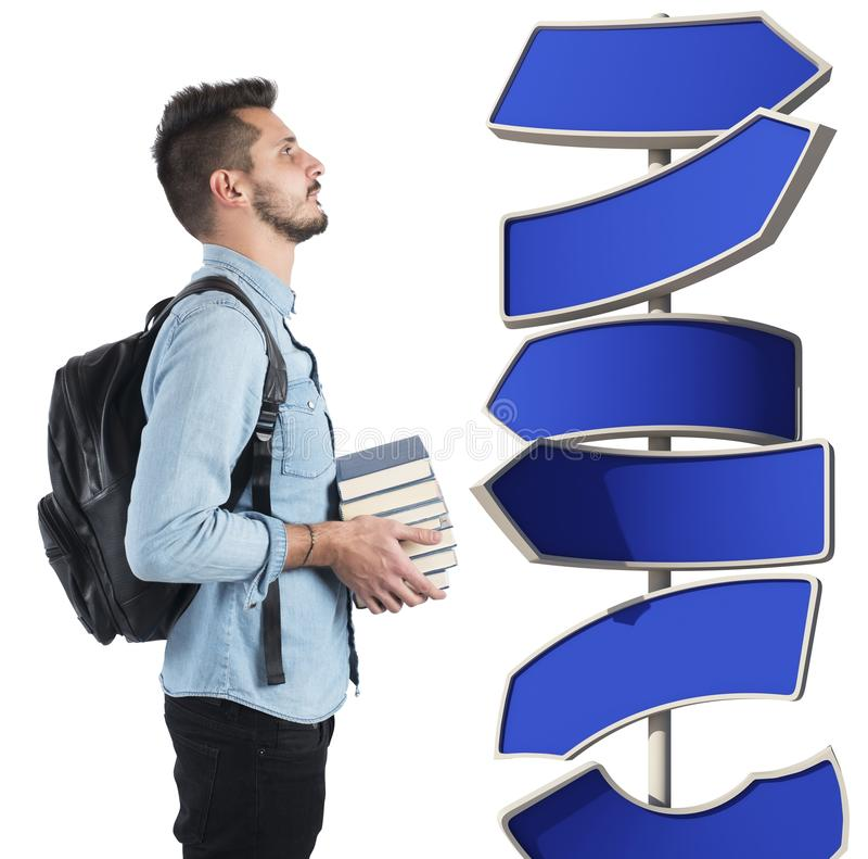 Estudante indeciso imagens de stock