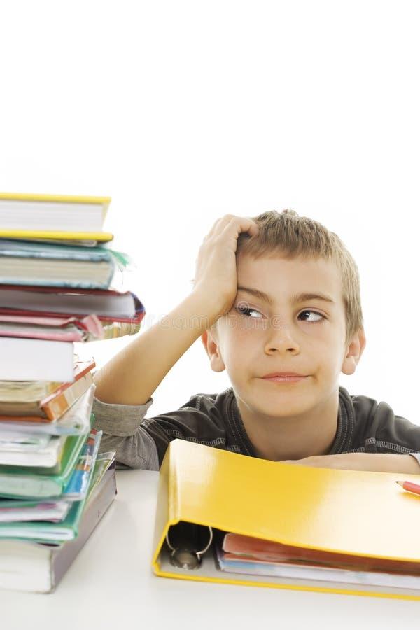Estudante irritada com dificuldades de aprendizagem. imagem de stock royalty free
