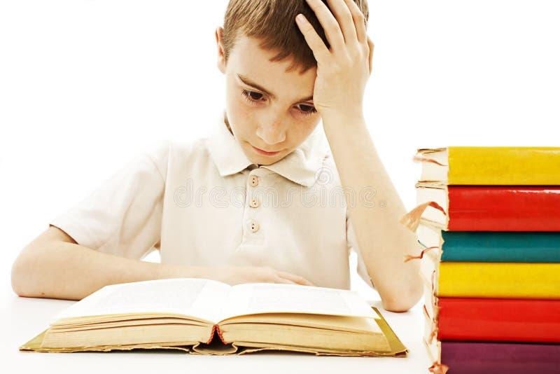 Estudante irritada com dificuldades de aprendizagem imagem de stock