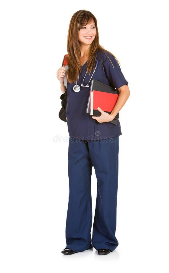 Estudante: Med Student Ready For Class imagem de stock