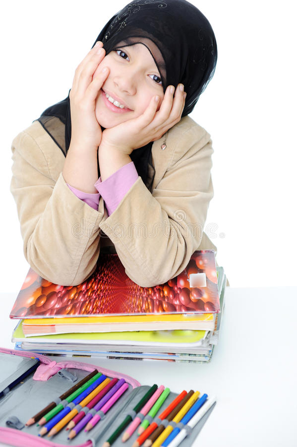 Estudante muçulmana imagens de stock
