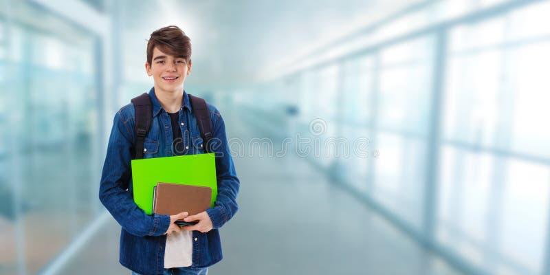 Estudante na escola fotografia de stock royalty free