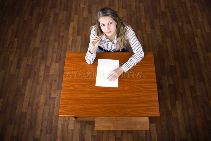 Estudante na examinação imagem de stock