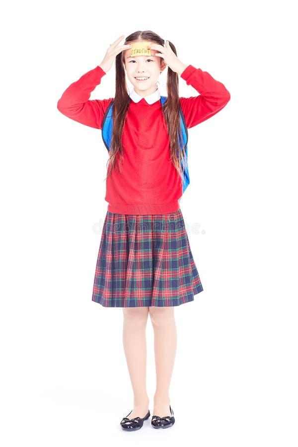 Estudante no uniforme fotos de stock royalty free