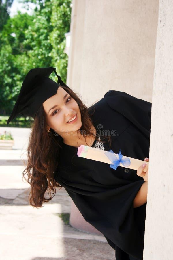 Estudante novo no vestido imagens de stock