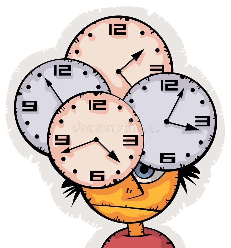 Estudante novo que falta o tempo ilustração stock