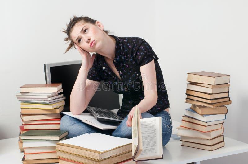 Estudante preocupado imagem de stock royalty free
