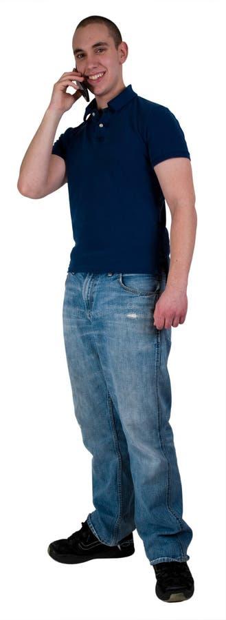 Estudante que fala no telefone de pilha fotos de stock