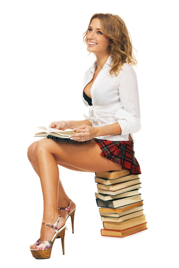 Estudante 'sexy' fotografia de stock royalty free