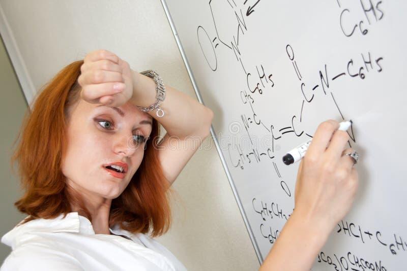 Estudante Tired do químico imagens de stock royalty free