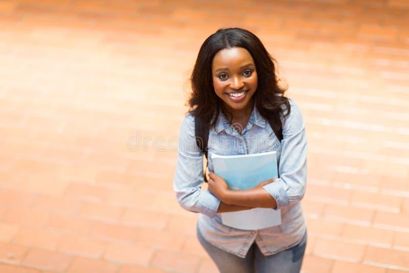 Estudante universitário africano fotografia de stock