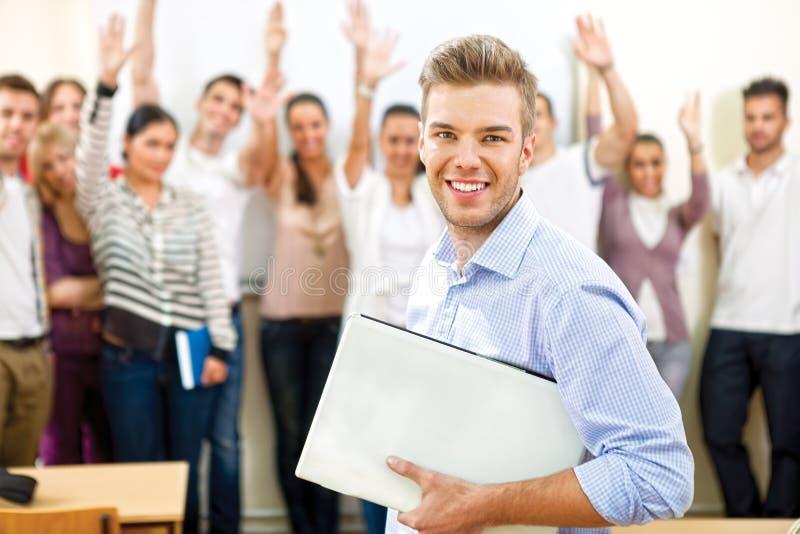 Estudante universitário considerável foto de stock royalty free