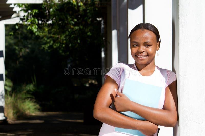 Estudante universitário do americano africano fotos de stock royalty free