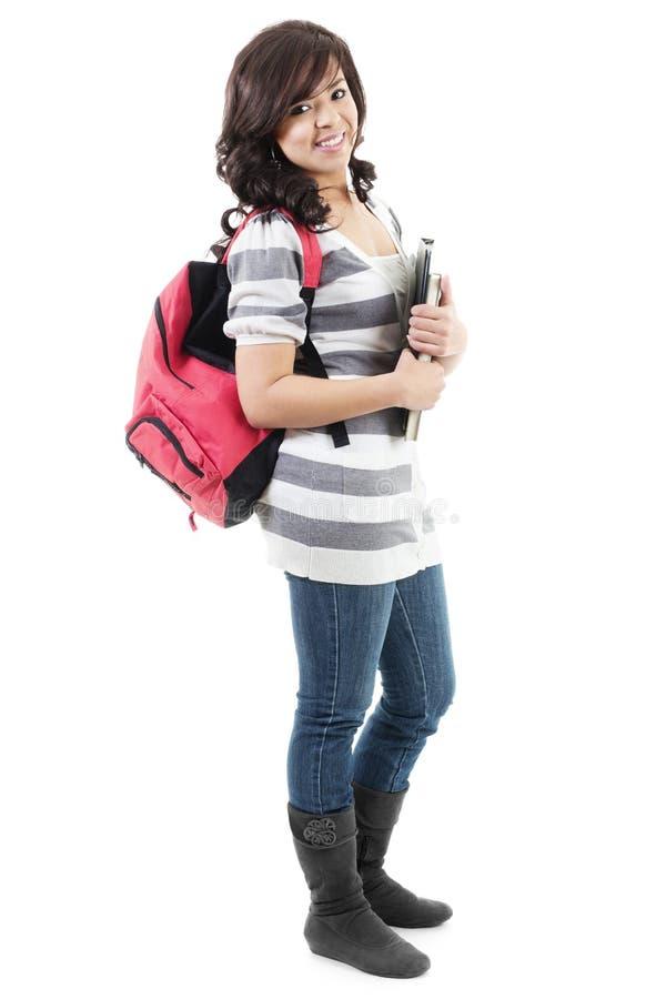 Estudante universitário fêmea fotografia de stock royalty free