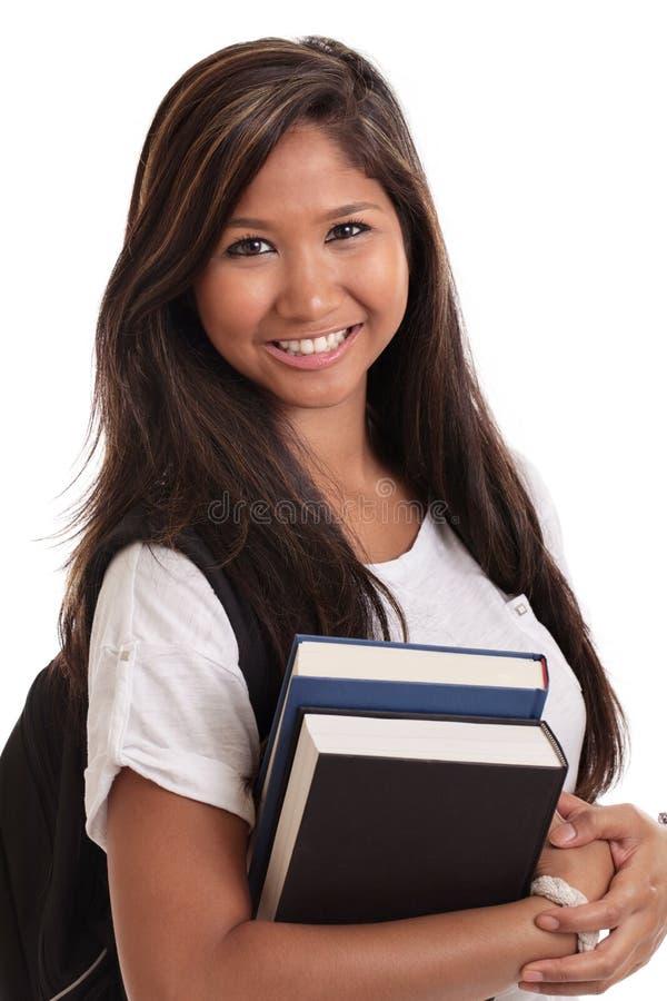 Estudante universitário fêmea asiático imagens de stock