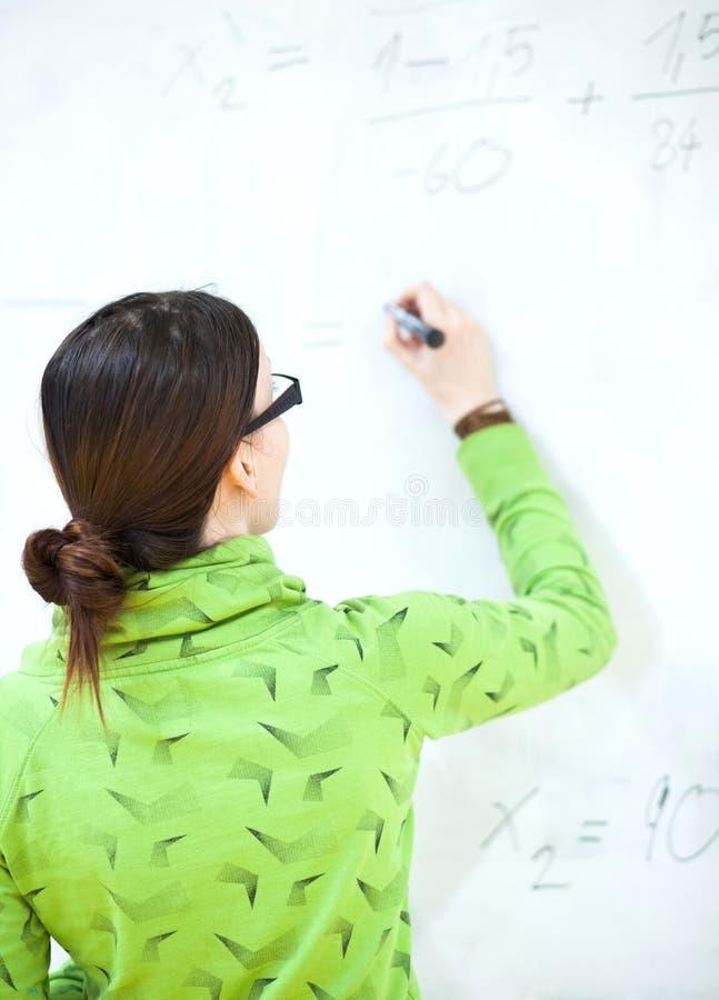 Estudante universitário fêmea novo imagem de stock