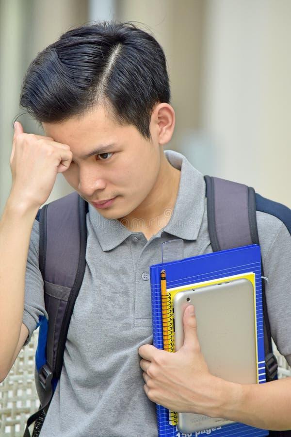 Estudante universitário And Sadness imagem de stock royalty free