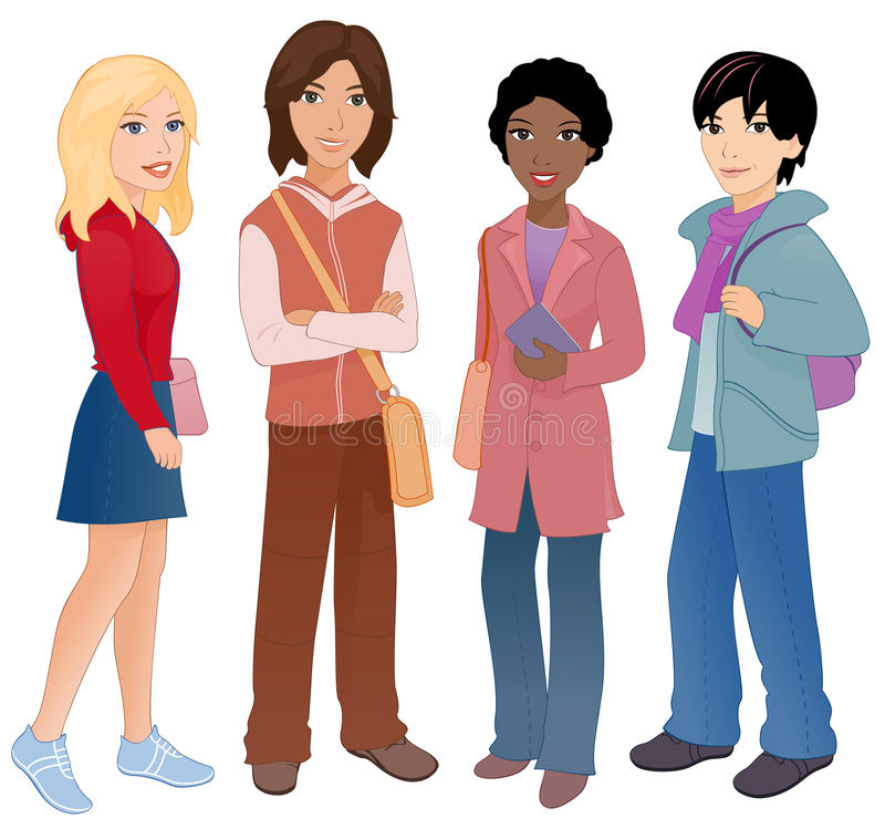 estudantes ilustração royalty free