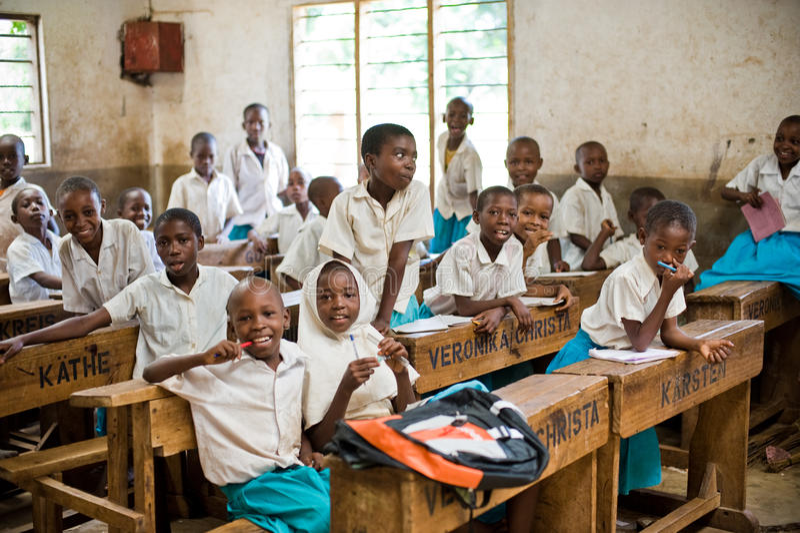 Estudantes africanos fotografia de stock royalty free