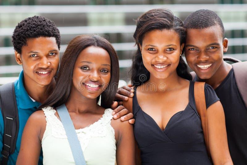 Estudantes americanos africanos foto de stock