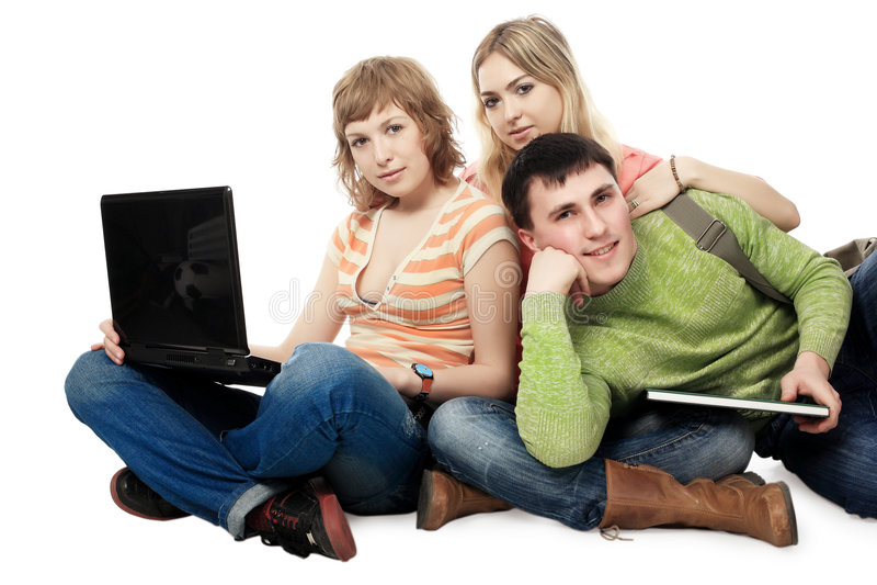 Estudantes amigáveis imagens de stock