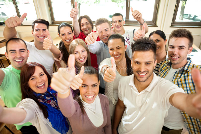 Estudantes da felicidade foto de stock