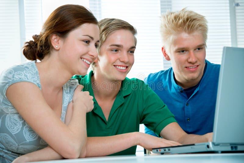 Estudantes da High School imagens de stock
