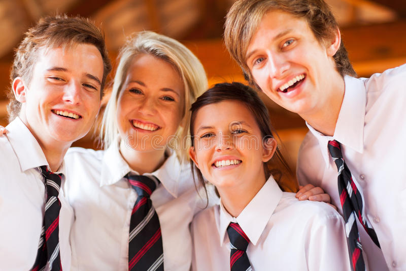 Estudantes da High School foto de stock