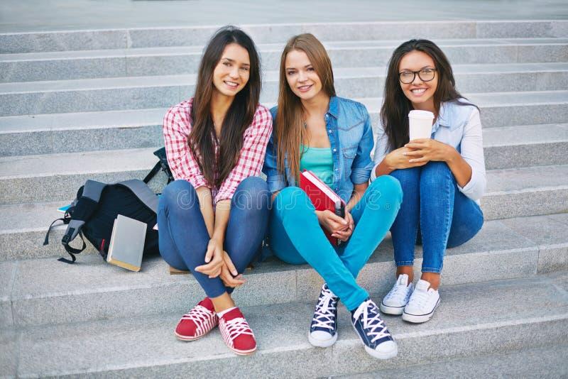 Estudantes da High School fotos de stock