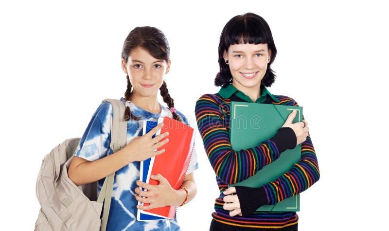 Estudantes de idades diferentes imagens de stock royalty free
