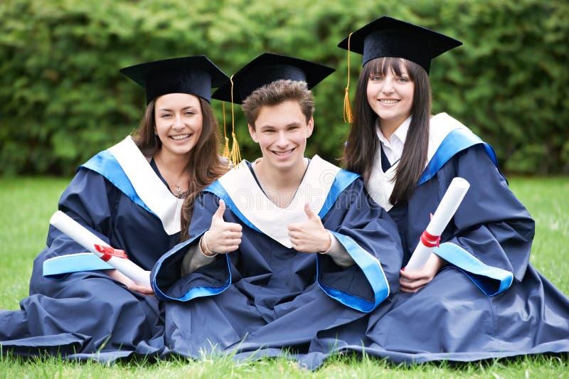 Estudantes de terceiro ciclo felizes foto de stock royalty free