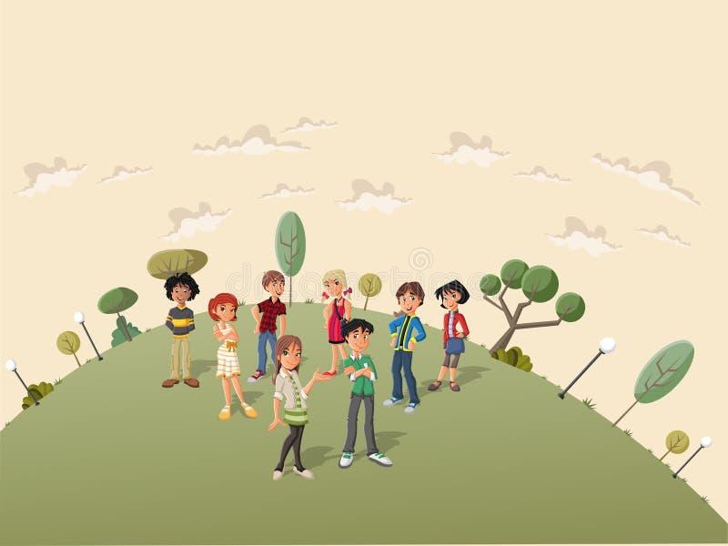 Download Estudantes do adolescente ilustração do vetor. Ilustração de juvenile - 26511786