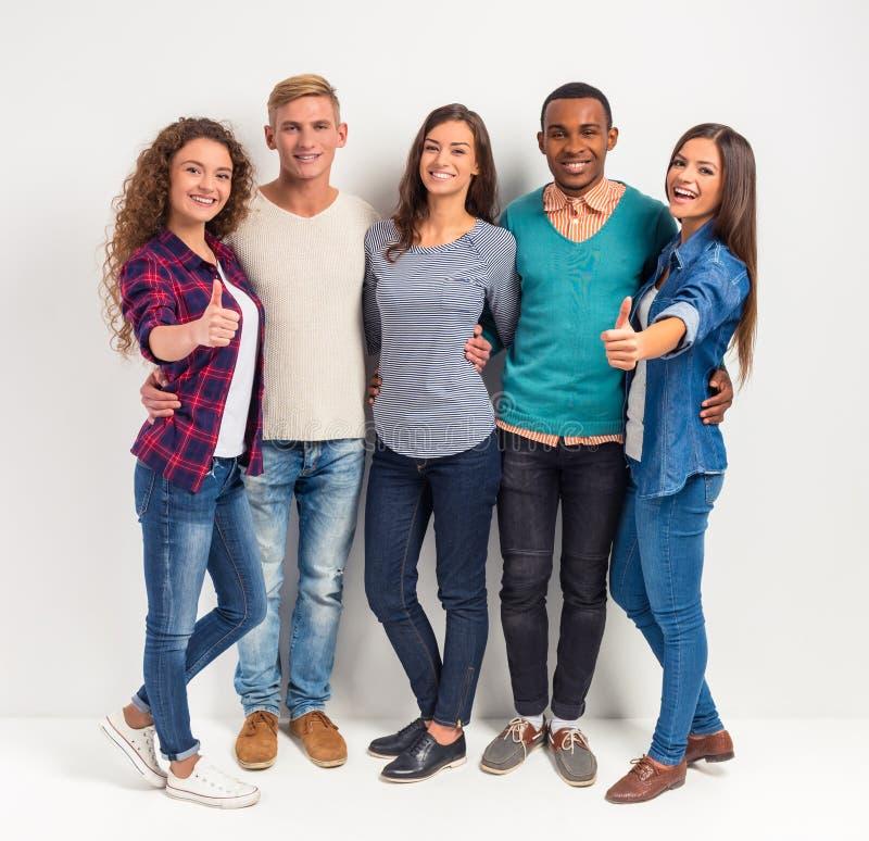 Estudantes do grupo de pessoas imagens de stock royalty free