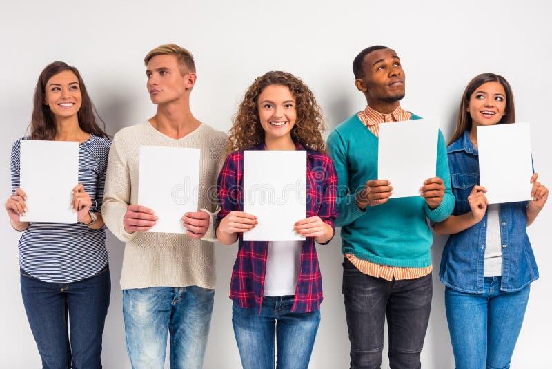 Estudantes do grupo de pessoas fotos de stock