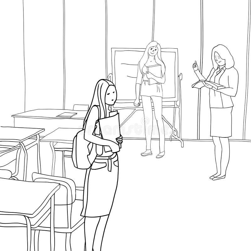 Estudantes e educação ilustração do vetor