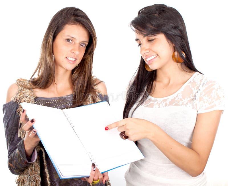 Estudantes fêmeas bonitos imagem de stock royalty free