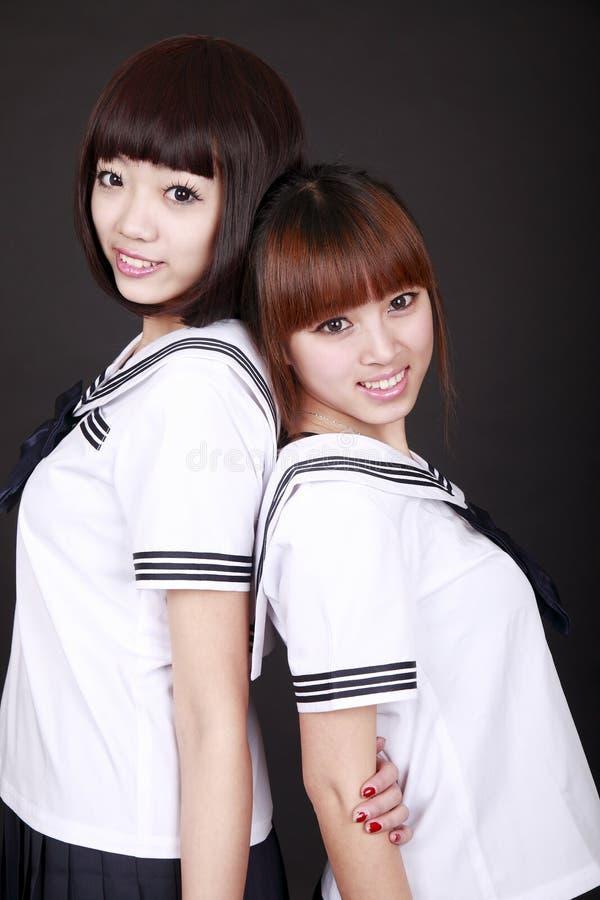 Estudantes fêmeas de Ásia imagens de stock