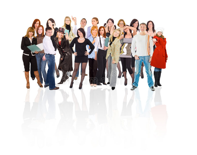 Estudantes grande grupo foto de stock