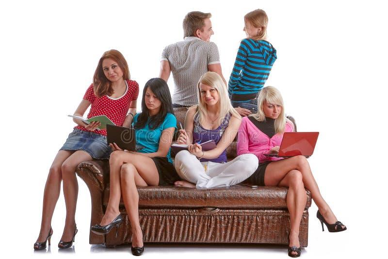Estudantes inteligentes foto de stock royalty free