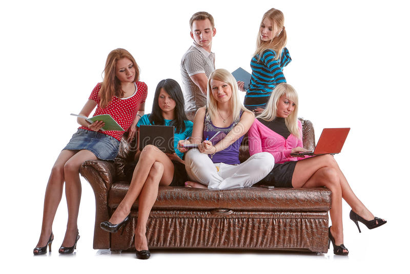 Estudantes inteligentes imagem de stock royalty free