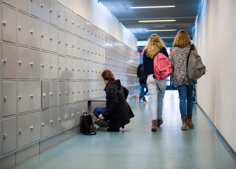 Estudantes na High School imagem de stock