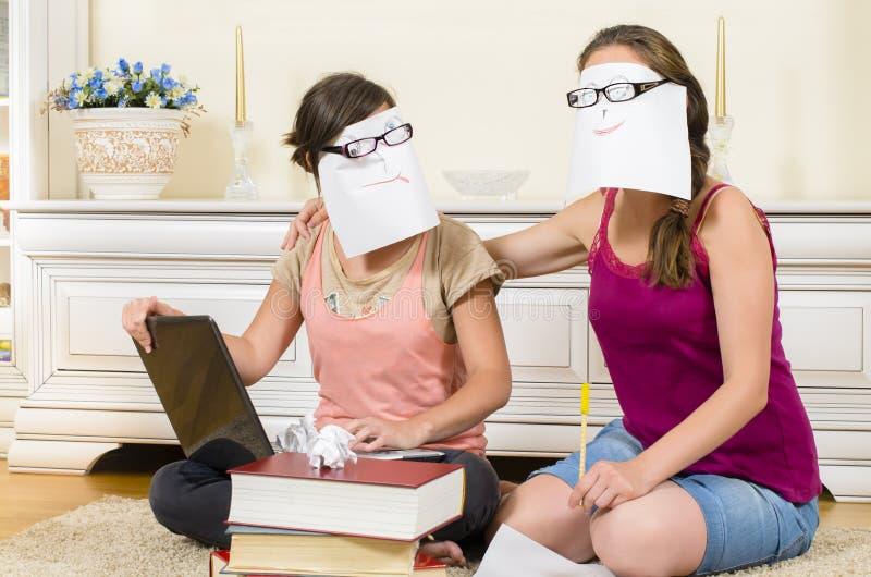 Estudantes na sessão fotos de stock royalty free