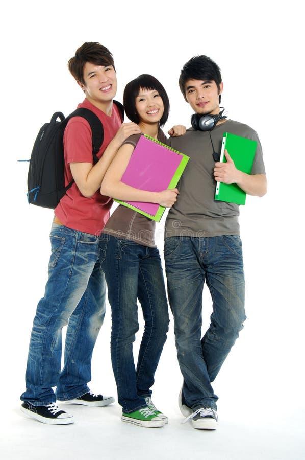 Estudantes novos asiáticos imagens de stock royalty free