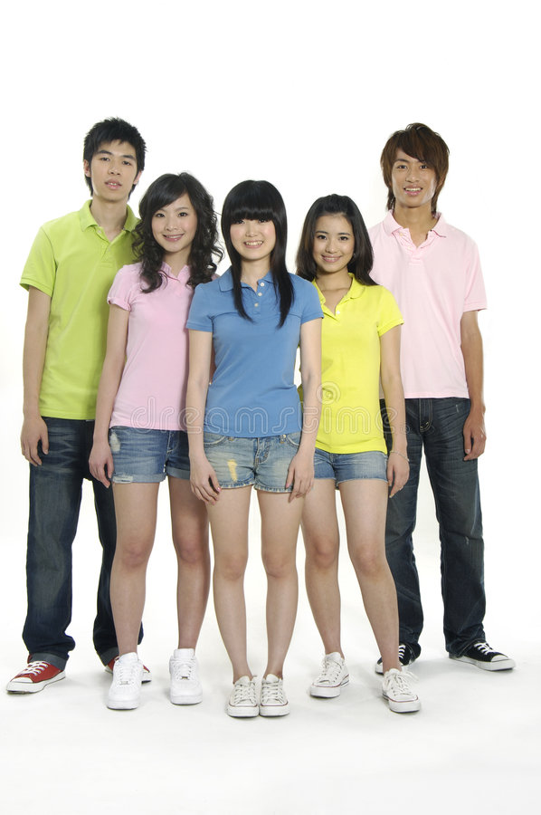 Estudantes novos asiáticos foto de stock royalty free